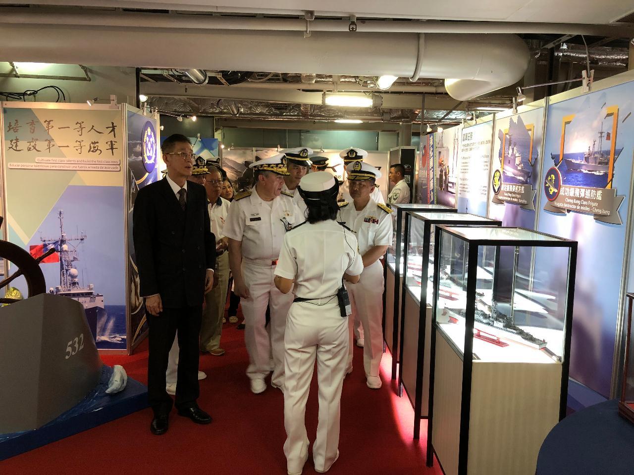 中華民國海軍敦睦遠航訓練支隊抵瓜訪問