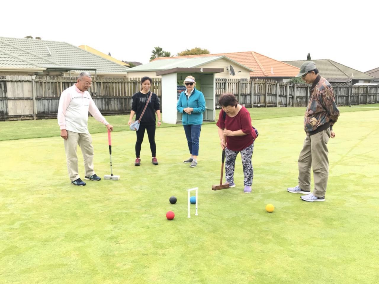 紐西蘭臺灣婦女會「歡慶母親節槌球聯誼」活動場景