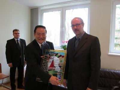 The Head of Taipei Mission in the Republic of Latvia, Ambassador Gary Ko, and Madame Ko visited Cesvaines