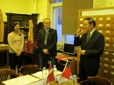 Representative Ko and Madame Ko accompanied a Taiwanese delegation for academic exchanges